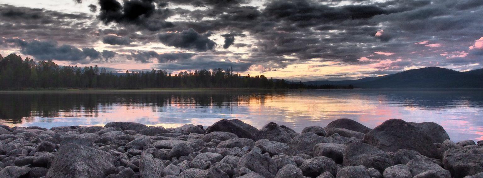 Ausgerechnet Lappland Landschaft am Karatjsee