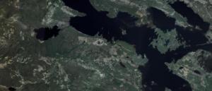 Satellitenansicht des Grundstücks