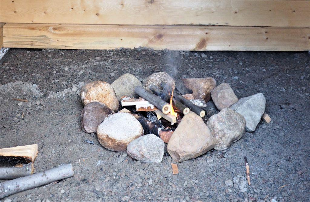 Das Räucherfeuer für Souvas
