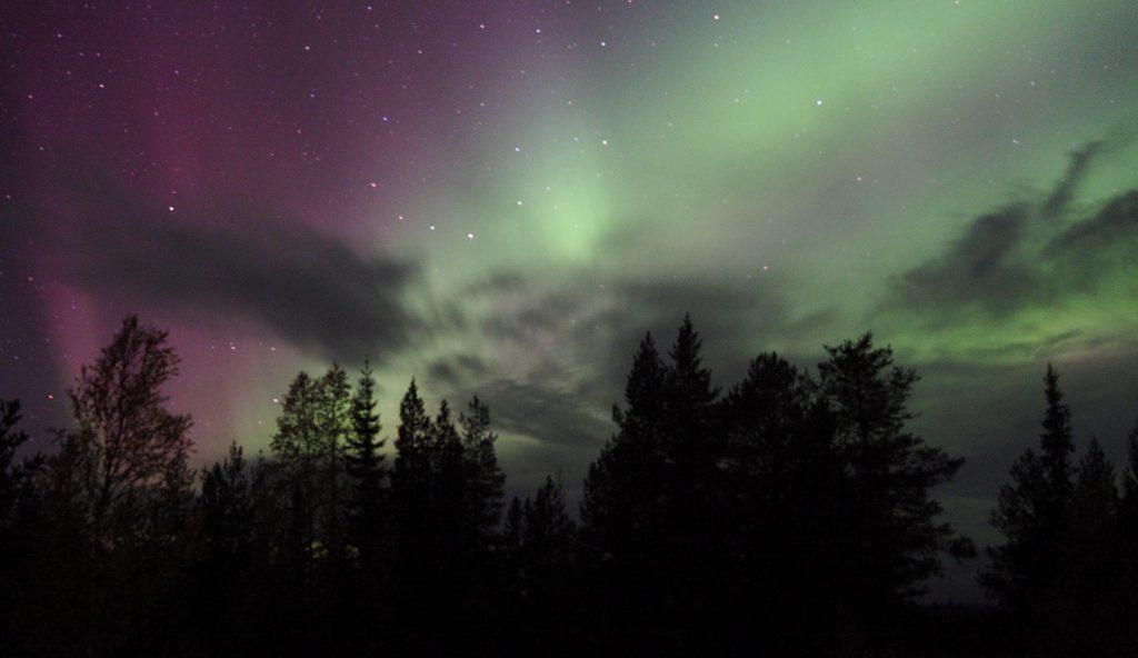 Nordlicht in Schwedisch Lapplan