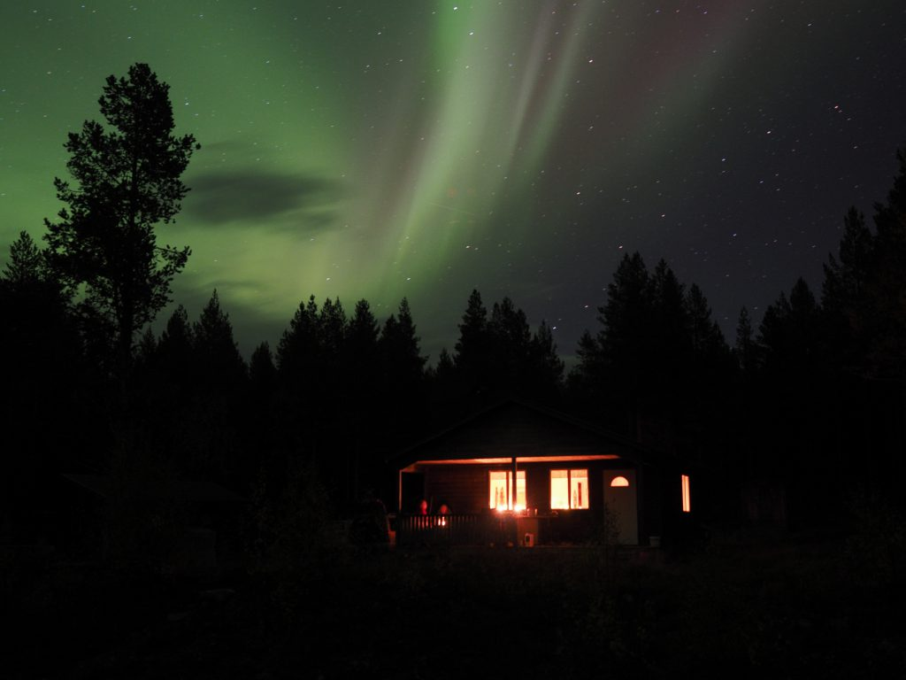 Nordlichter über der Stuga