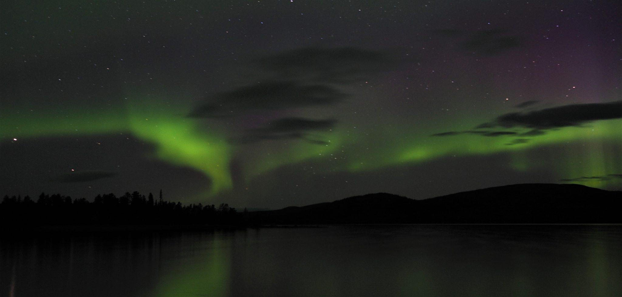 Nordlichter über dem Karatj-See