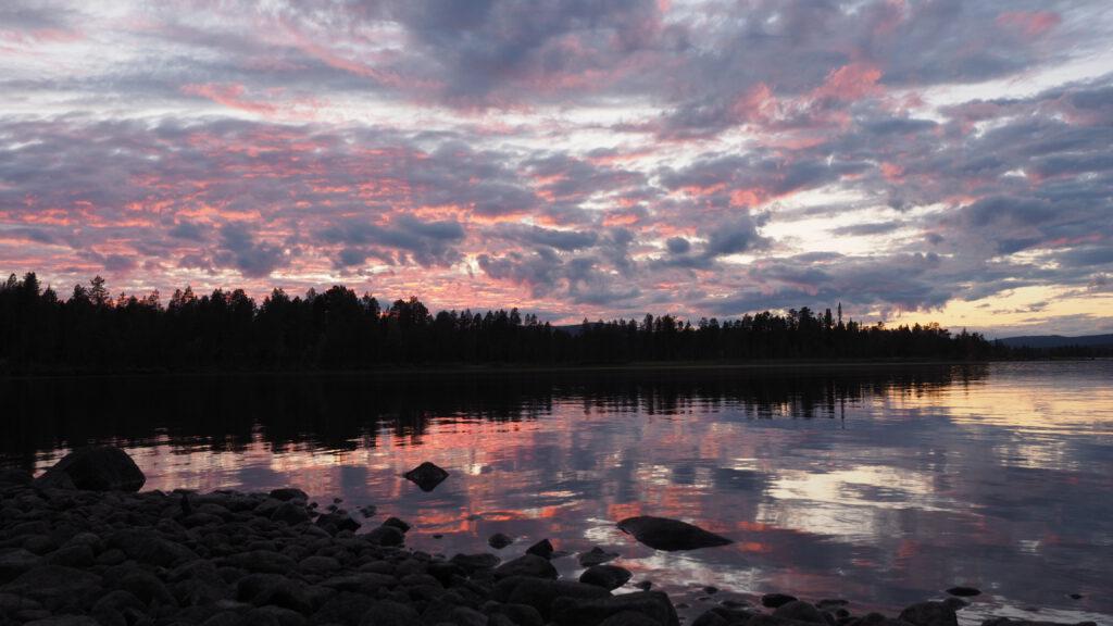 Blick von Haralds Stol auf den Karatj-See