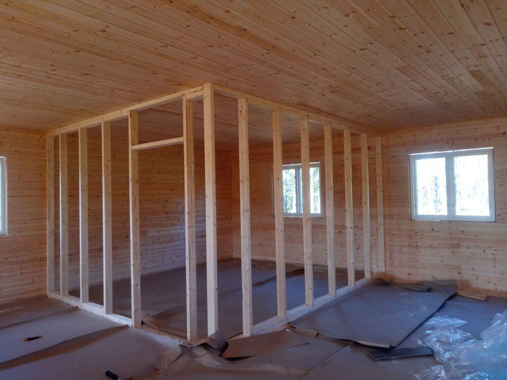 Endpurt Innenwände - Ständerwerk Schlafzimmer