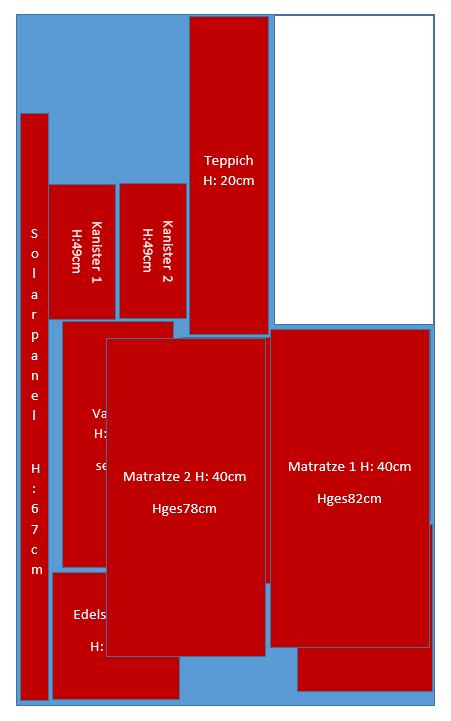 Kofferraum Ebene 2 - Planzeichnung