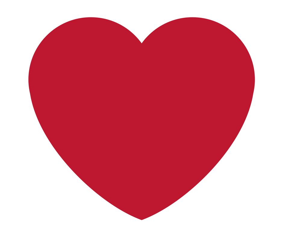 Dankbarkeit in Herzform ausgedrückt