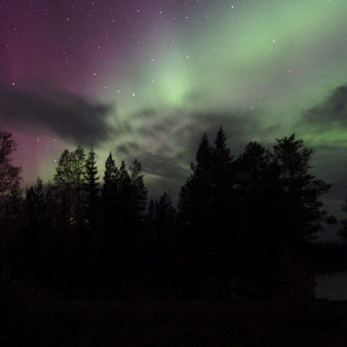 Noch ein Nordlicht über dem See